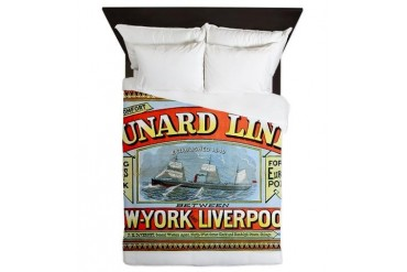 Cunard Line 1875 New york Queen Duvet by CafePress