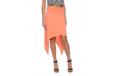 Alternative Apparel 'Yuri' Pull-On Knit Skirt Coral, S