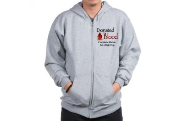 Donated His Blood Jesus Zip Hoodie by CafePress
