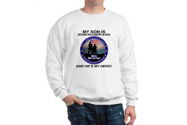 National Guard Son Hero FB Military Sweatshirt by CafePress