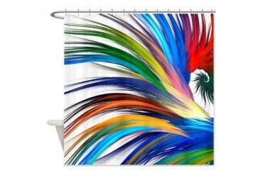 Colorful Abstract Shower Curtain