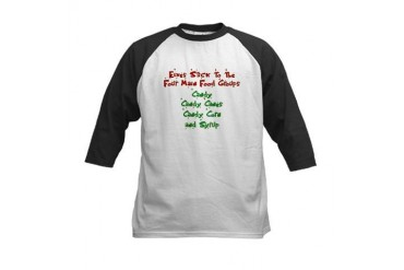 Elves - Food Groups Kids Baseball Jersey