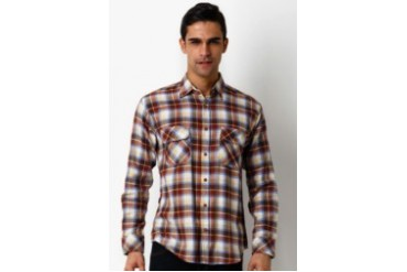 Travis Jeans & Co Flanel II Brown Shirt