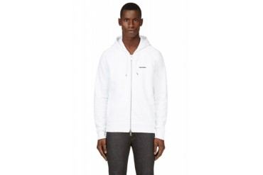 Dsquared2 White Logo Zip up Hoodie