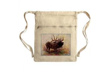 Elk Wildlfie art Sack Pack Art Cinch Sack by CafePress
