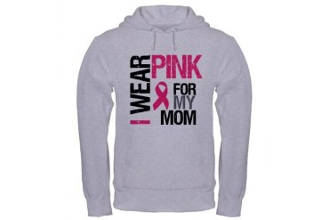 I Wear Pink (Mom) Hooded Sweatshirt