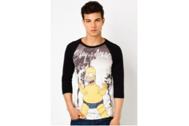 The Simpsons @ urban TEE Sexy and Athletic Homer Raglan Tee