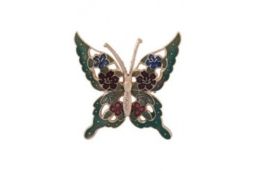 eslystyle.com Handpainted Floral Butterfly Brooch