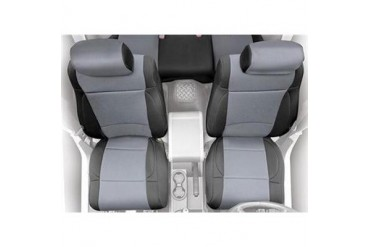 Smittybilt Neoprene Front Seat Cover in Black and Charcoal 47722 Seat Cover