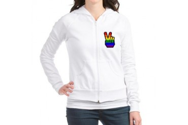 Pride Peace Gay Jr. Hoodie by CafePress