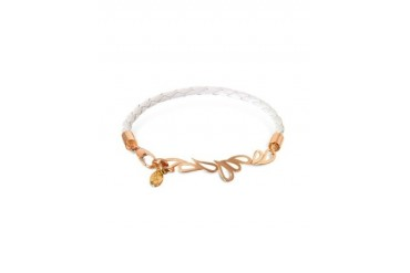 Mari Fiendship Leather and Rose Gold Bangle