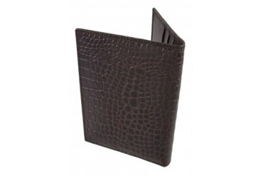 Italian Leather Croc Textured Passport Cover