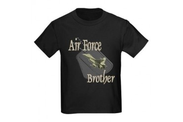 Jet Air Force Brother Kids Dark T-Shirt