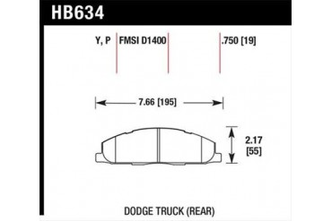 Hawk Performance Disc Brake Pad HB634P.750 Disc Brake Pads