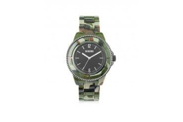 Tokyo 42 Stainless Steel Camo Acetate Unisex Watch