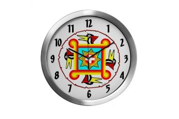 SOUTHEAST INDIAN DESIGN Native american Modern Wall Clock by CafePress