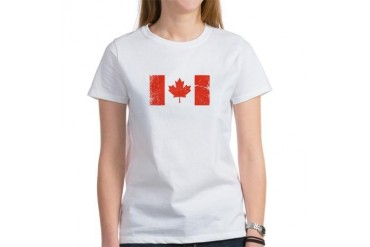 Canada Vintage Vintage Women's T-Shirt by CafePress
