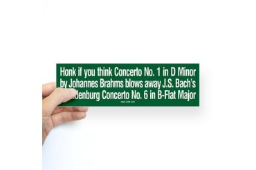 Brahms Bach sticker Brahms Sticker Bumper by CafePress