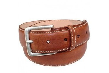 Cognac Smooth Leather Belt