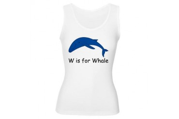 W is for Whale Whale Women's Tank Top by CafePress