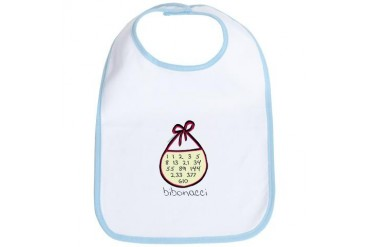 Fibonacci / onacci Cute Bib by CafePress