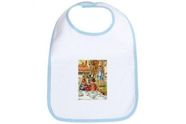 Mad Hatter's Tea Party Baby Bib by CafePress
