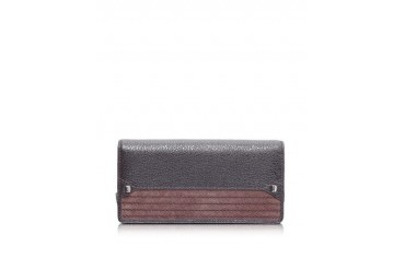 Corine Calf Leather Flap Wallet