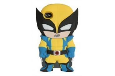 Marvel Comics X-Men Wolverine Chara-Cover iPhone 4/4S Rubberized Hard Phone Case