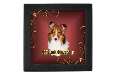 Shetland Sheepdog-Sheltie Pets Keepsake Box by CafePress