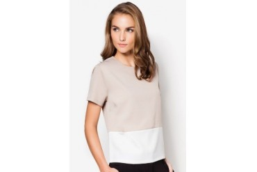 EZRA by ZALORA Contrast Top