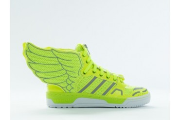 Adidas Originals X Jeremy Scott Mesh Wings 2.0 in Electricity Metallic size 8.0