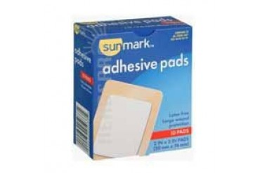Sunmark Adhesive Pads 2 Inches X 3 10 each