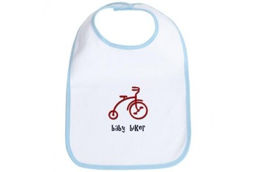Baby Biker Retro Bib by CafePress