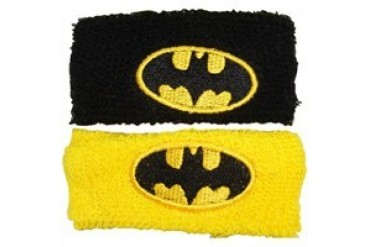 DC Comics Batman Classic Logo Black Yellow Wristband Set