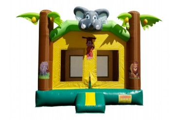 Commercial Grade Jungle Kingdom Inflatable Jumper Zoo Moonwalk Bounce House