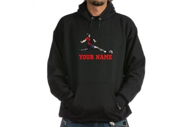 Personalized Soccer Sports Hoodie dark by CafePress