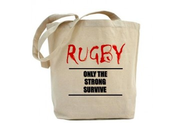 Only Strong Survive Rugby Sports Tote Bag by CafePress