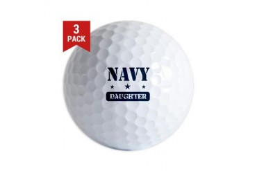 Navy Daughter Navy Golf Balls by CafePress