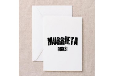 Murrieta Rocks California Greeting Card by CafePress