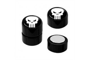Marvel Comics Punisher Acrylic Faux Plug Magnetic Earrings