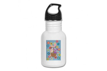 Bunny Blue Cute Kid's Water Bottle by CafePress