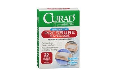 Curad Quickstop Pressure Bandages 1 x 3 inch 20 each