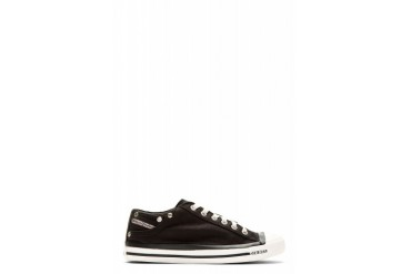 Diesel Black Denim Low top Exposure Sneakers