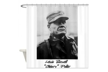 Chesty Puller w text Usmcfp Shower Curtain by CafePress