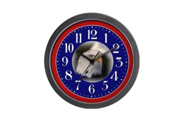 Bald Eagle Funny Wall Clock by CafePress