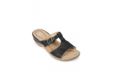 Black Heel Slides