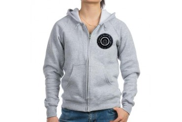 Space Bear Faded Badge Space Women's Zip Hoodie by CafePress