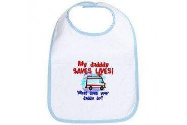 Daddy Saves Lives Ambulance Bib