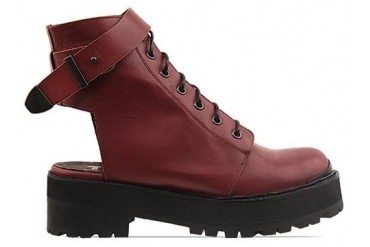 To Be Announced Rocks in Burgundy Leather size 7.0