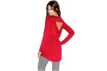Open drape back hi-low tunic